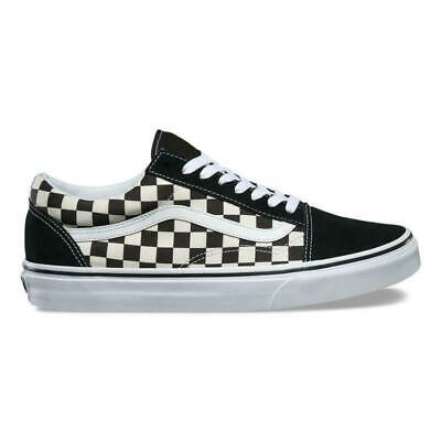 20VANS Old Skool Skate Shoes Black/White Checked Classic Canvas Sneakers UK3-9.5