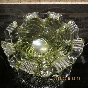 CHALET ART GLASS DISH