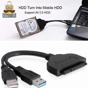 USB 3.0 to 2.5in SATA 3 Hard Drive Adapter Cable