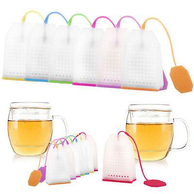 Silicone Mesh Loose Spice Herbal Tea Bag Leaf Infuser Strainer Filter Diffuser ()