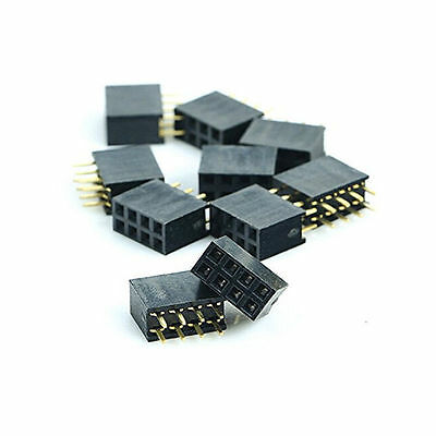 20PCS 2x4 Pin 8P 2.54mm Double Row Female Straight Header Pitch Socket HOT FH