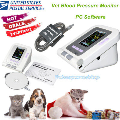 Usa Contec08a-vet Digital Veterinary Blood Pressure Monitorpc Software Catdog