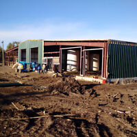 Used pre-fab steel building 50x135x18 for sale