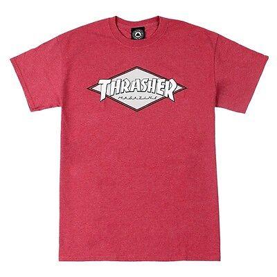 8b6f19f7ae2c Thrasher Magazine OG DIAMOND LOGO Skateboard Shirt CARDINAL HEATHER MEDIUM
