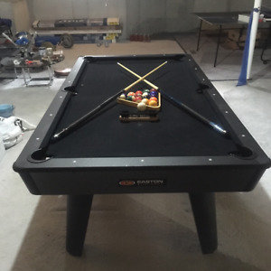 Pool table and ping pong table