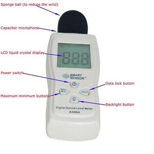 Digital Sound Pressure Level Decibel Noise Meter Tester Measurement 30~130dB LCD 260205