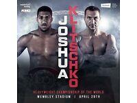 2 Anthony Joshua boxing tickets club seats block 211 row 5