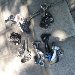 Lot of front and rear deraileurs  LX, XT