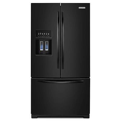 "KitchenAid KFIS29BBBL 36"" Black Standard Depth French Door Refrigerator NEW DEAL"