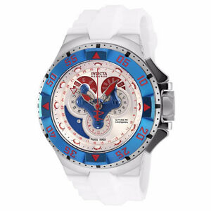 New! Invicta Men's Excursion 18562 Silver Resin Quartz Watch