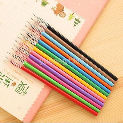 Useful 12pcslot Colorful Diamond Gel Pen Cute Pens Student Office Accessories