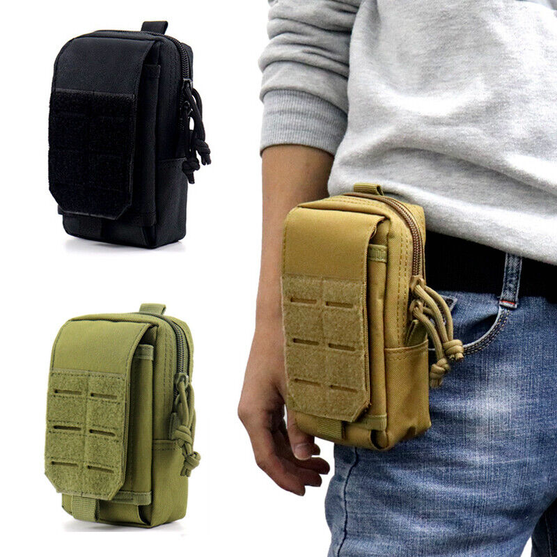 US Tactical Molle Pouch Military Waist Bag Belt Pack Outdoor Men EDC Tools Bag