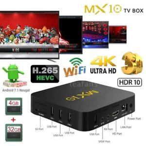 MX10 Smart TV BOX Android 7.1.2 PENTACORE 4GB 32GB