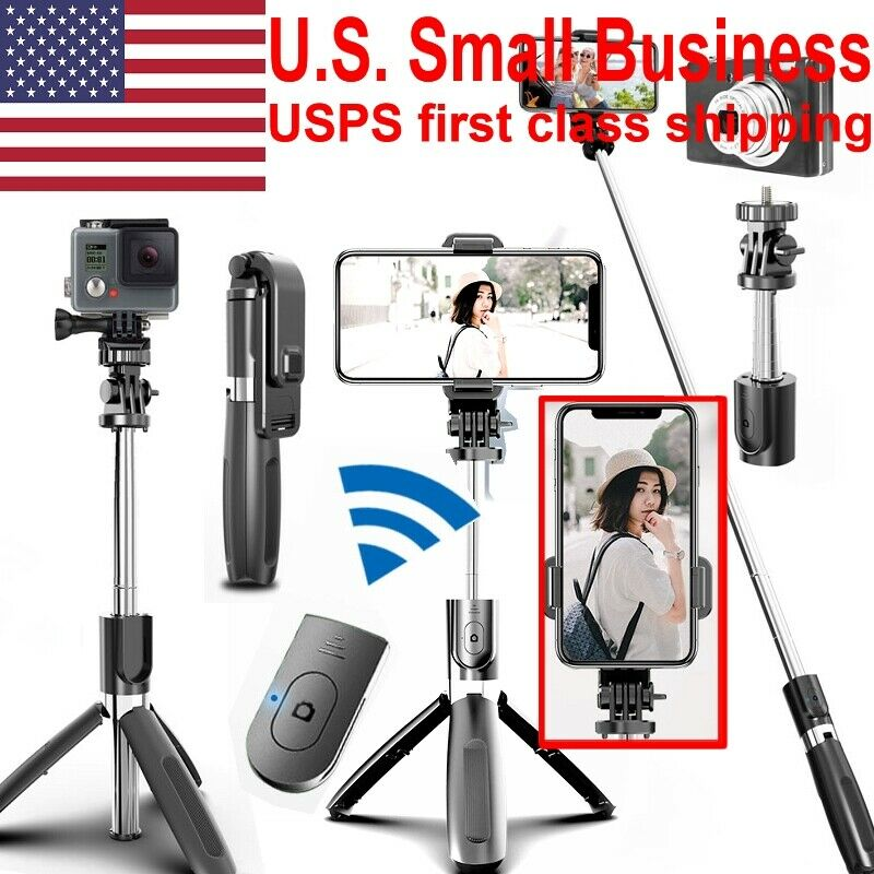 Selfie Stick Stand Tripod Bluetooth Remote 360°Rotation For