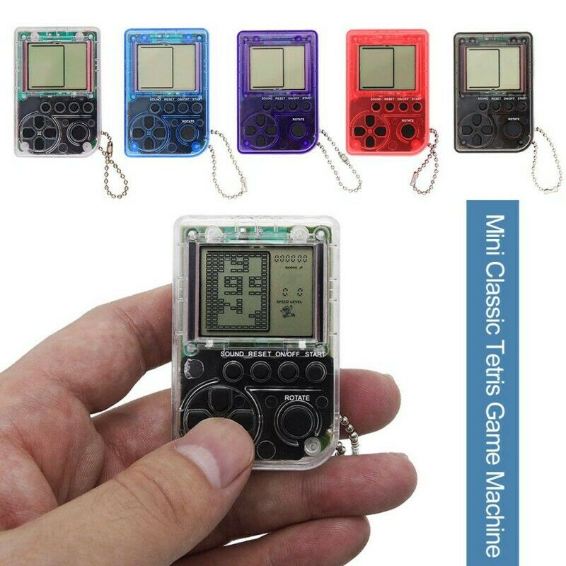 Retro Classic Keychain Tetris Game Box Mini Matchbox- Childhood Electronic New Video Game Consoles