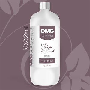 OMG Tanning Solution - 1000ml 'Desire' Medium Tan Sunless Spray Liquid (1 Litre)