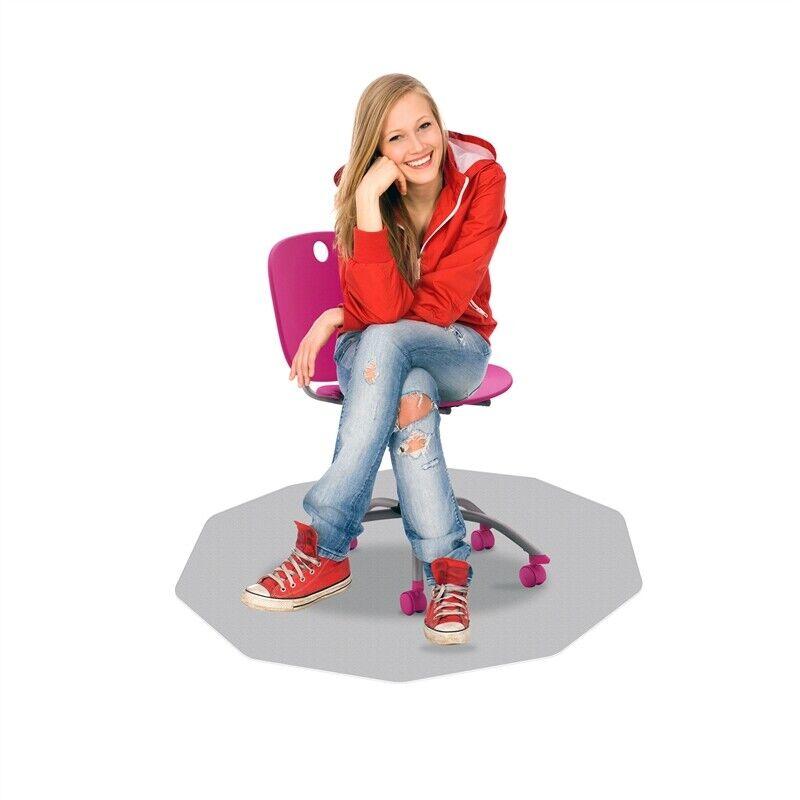 """CraftTex 9Mat  Chair Mat for Hard Floors  Clear 38"""" x 39"""""""