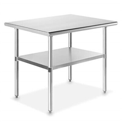 Gridmann Nsf Stainless Steel Commercial Kitchen Prep Work Table - 36 In. X 24