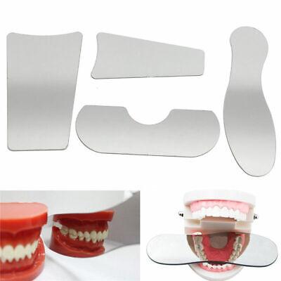 4pcs Dental Orthodontic Photographic Mirror Stainless Steel Nickel Autoclavebale