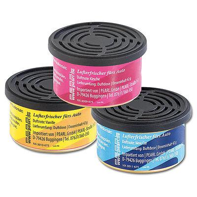 Kfz Lufterfrischer: Duftdosen fürs Auto: Vanille, Neues Auto & Kirsche, 3er-Set ()