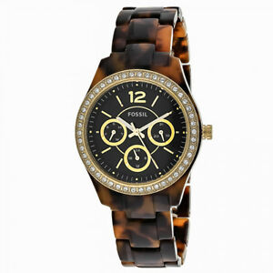 Fossil Stella Brown Dial Ladies Multifunction watch brand new