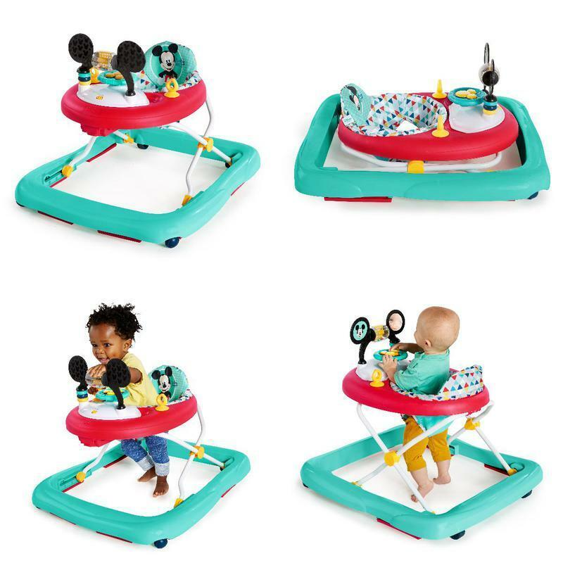 Bright Starts Disney Baby Mickey Mouse Baby Walker Activity Station Happy Triang