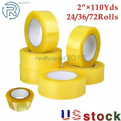 24-36-72 Rolls Clear Packing Tape Packaging Carton Sealing Tape 2110yards Us