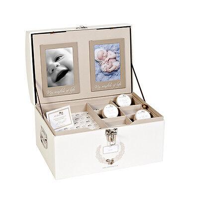 MYBABYLOG Baby Gift Memory Keepsake Box--Christening Gift for Boys or Girls