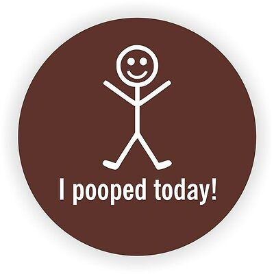 I Pooped Today Hard Hat Decal Helmet Sticker Funny Label Toolbox Lunch Box -bn