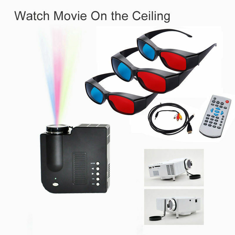 Mini Portable LED Projector 1080P Multimedia Home Theater VGA USB