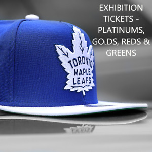 Toronto Maple Leafs Tickets (Platinum, Gold, and Green)