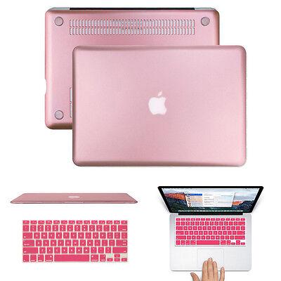 "ROSE GOLD METALLIC Hard Case Keyboard Cover MacBook Pro 13/15"" Retina Air 13/11"""