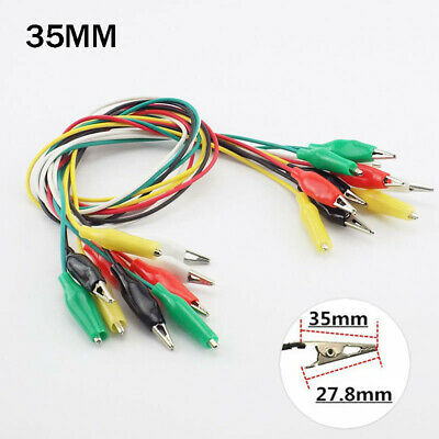 110x 35mm Electric Test Jumper Wire Crocodile Clips Roach Alligator Clips Leads