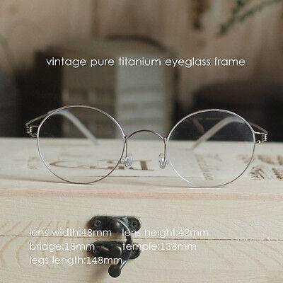 Titanium Round Steve Jobs Glasses mens HARRY POTTER Eyeglasses Frame Spectacles ](Steve Jobs Glasses)