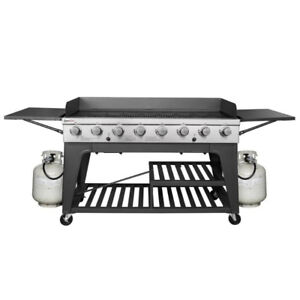 8-Burner Propane Gas Grill with Side Shelves - by Royal Gourmet