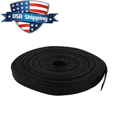 12in 14mm Diameter Heat Shrink Tubing Shrinkable Tube 98ft Black