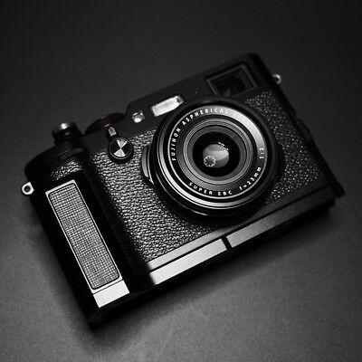 Aluminum Metal + Leather Camera Skidproof Hand Grip For  Fuji Fujifilm X100F