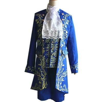 Movie Prince Beauty and The Beast cosplay costume Halloween for adult outfit ZG (Beauty And The Beast Costumes Adults)