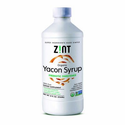 Zint, Organic Yacon Syrup, Prebiotic Sweetener , 8 fl oz (236 ml)