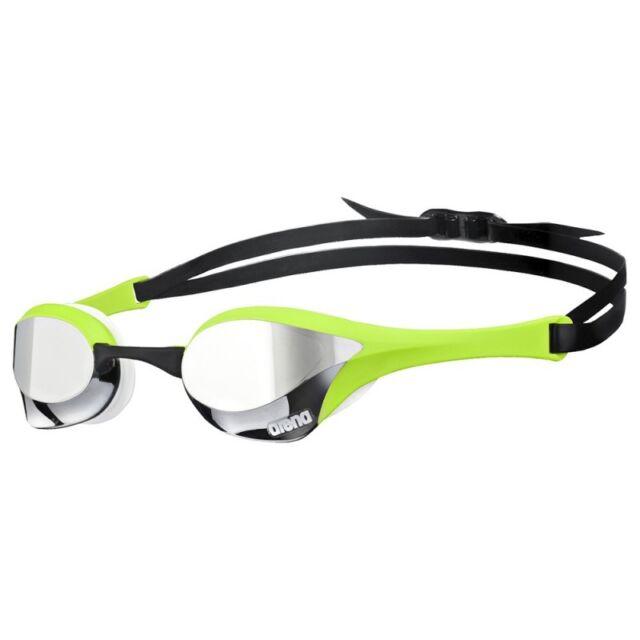 Arena Cobra Ultra Mirror Swim Goggles Schwimmbrille Occhialini Silvr/Green/White