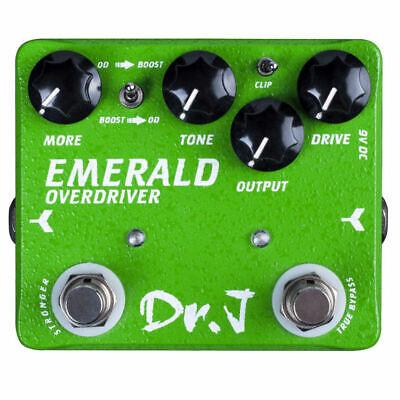 Joyo Dr. J D-60 Emerald Overdrive + Boost Pedal True Bypass New