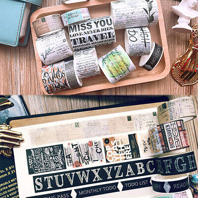 Vintage Newspaper Ticket Map Washi Tape Masking Paper Sticker Scrapbook - Washi Tape Cheap