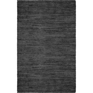 Solid Black Natural Jute Rug Brand New 4'11x7'5