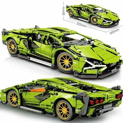 1254Pcs Technic Lamborghini Racing Building Blocks Bricks Model MOC DIY Toys Kid
