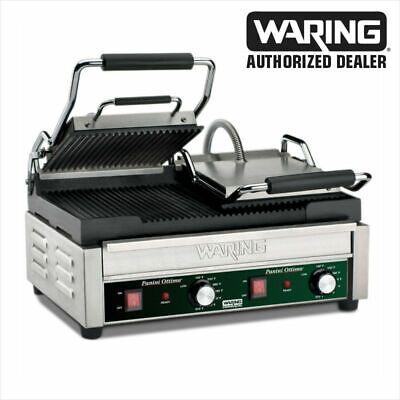Waring Wpg300 Ottimo Rib Top Bottom Commercial Panini Sandwich Grill 240v Wow