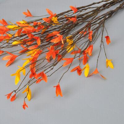 Autumn Leaf Decorations (Home Decor Plastic Branch Artificial Plants Dried Tree Autumn Leaf Craft)