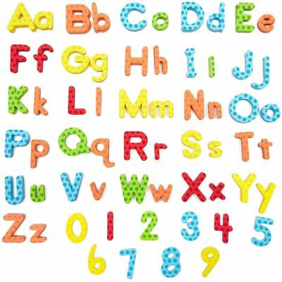 114x Magnetic Foam Upper Lower Cases Letters Numbers for Toddler, 1 to 1.65 inch