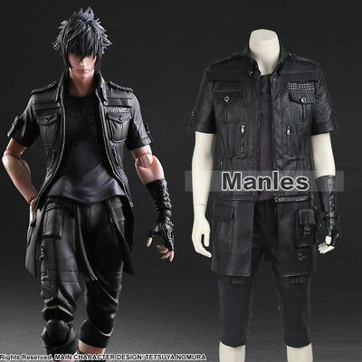 Final Fantasy Halloween Art (Final Fantasy XV Noctis Lucis Caelum Costume Cosplay Game Anime Full Suit)