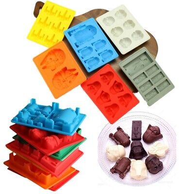 Star Wars Ice Cube Tray Silicone Mould Chocolate Whiskey Mold R2D2 Han Solo