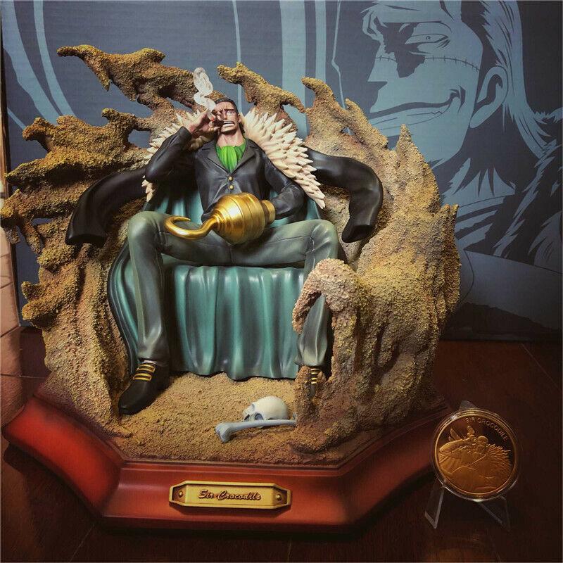 One Piece Sir Crocodile Statue Resin Model Palace Original With Box Ebay